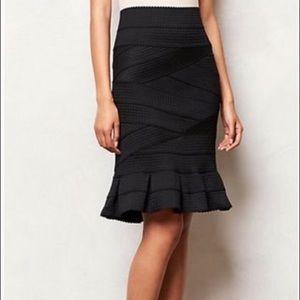 Girls From Savoy Anthropologie Bandage Skirt black